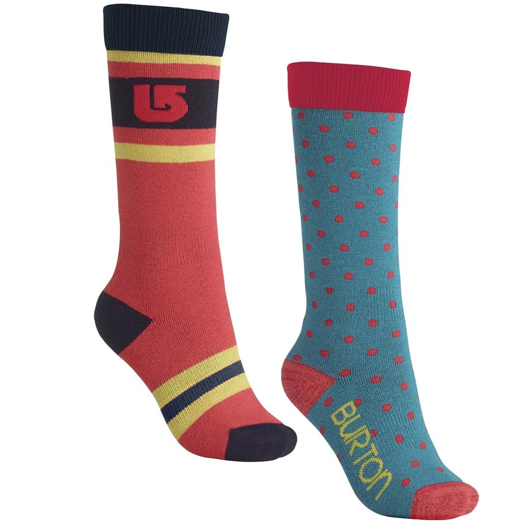 Burton Weekend 2 Pair Socks Women's Tahoe SM by Burton
