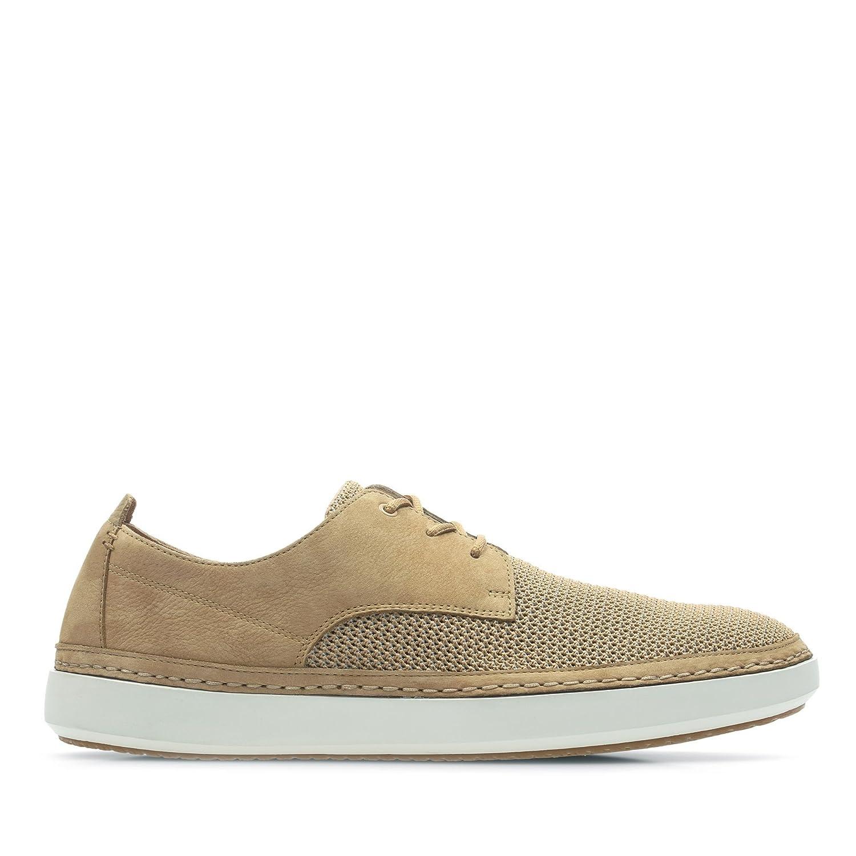 Clarks Komuter Spark Nubuck Shoes in Light Tan Standard Fit