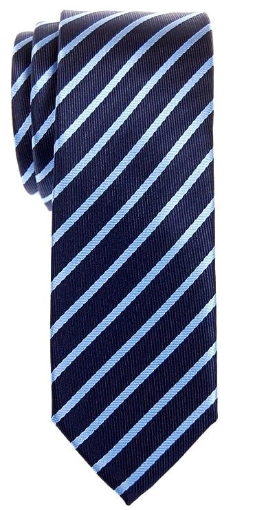 Pr/ämie Schmale Gewebte Krawatte Regimentsstreifen Gestreifte 5 cm