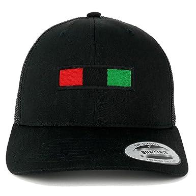 743f57f9868 Armycrew Flexfit Oversize XXL Red Black Green Bar Patch Retro Trucker Mesh  Cap - Black -