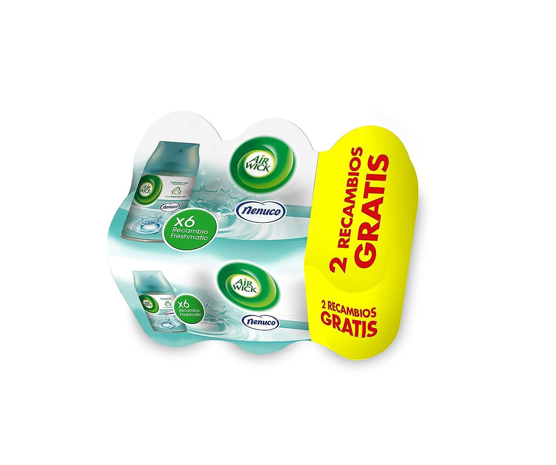 Air Wick Freshmatic Ambientador para el hogar, recambio fragancia Nenuco, pack de 6 x 250 ml - Total: 1500 ml: Amazon.es: Hogar