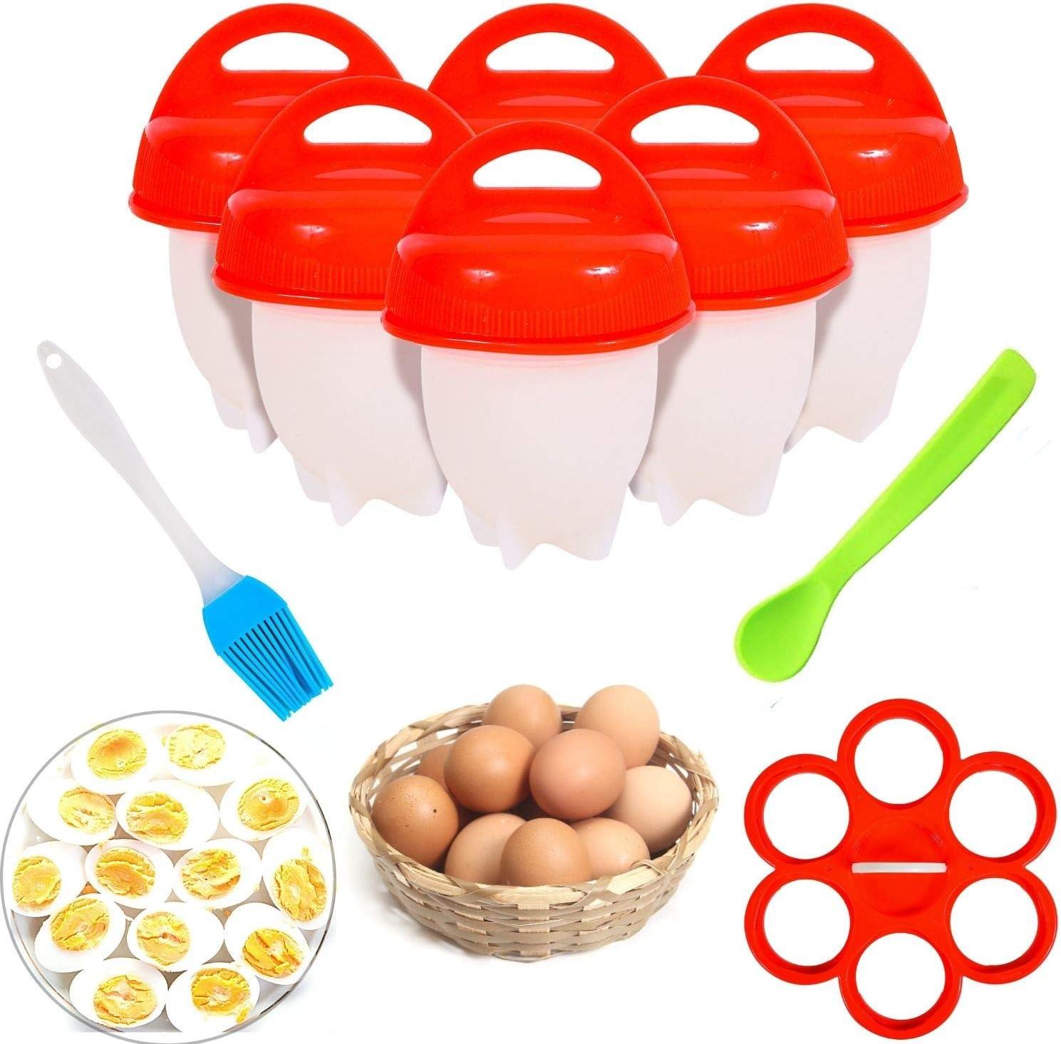 Details about  /New Fig /& Olive Poachers Silicone Egg Boil Hard Boil Kitchen Gadget Utensil