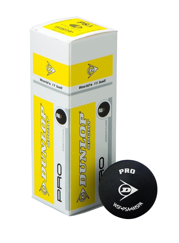 Dunlop Pro Squash Bälle–3Kugel Box
