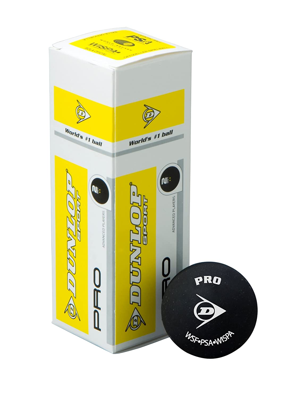 Dunlop –Caja de 3pelotas de squash Pro