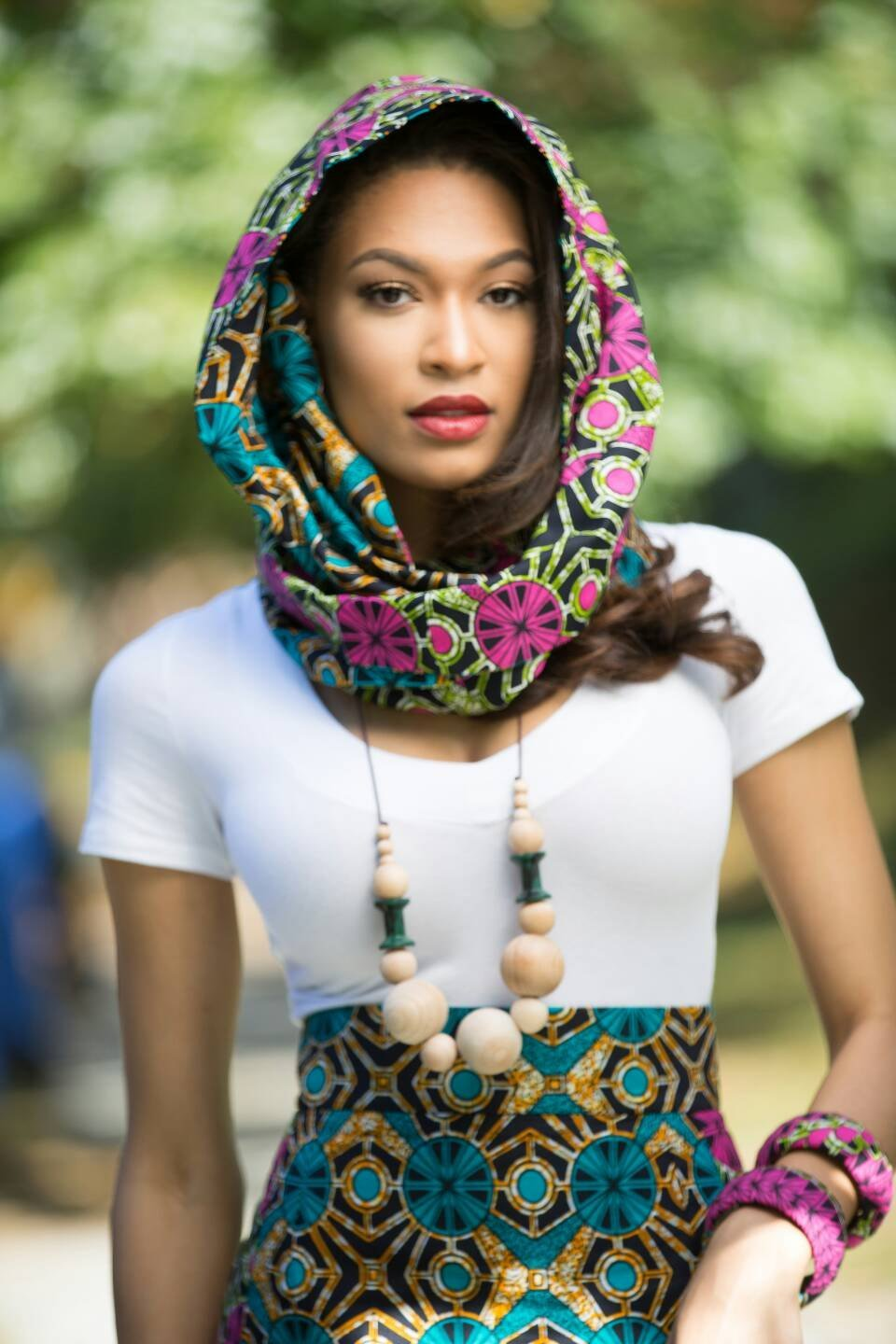 Amazon.com: Infinity scarf, African print scarf,Infinity scarves ...
