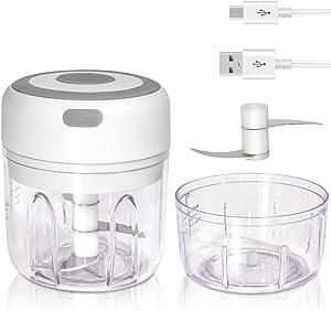 Gietinor Electric Mini Garlic Chopper,Wireless Food Chopper/Mincer For Garlic,Pepper,Meat,Baby Food(WHITE)