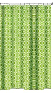 Popular Home The Nicole Collection Fabric Shower Curtain Lime Green