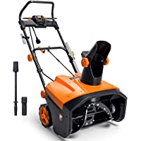 TACKLIFE Upgrade Snow Blower, Electric Snow Blower, 20 Inch Steal Auger, 30ft Throwing Distance, 8 Inch Effective Depth…