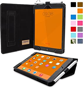 iPad Mini 3 Case, Snugg - Smart Cover with Kick Stand & (Black Leather) for Apple iPad Mini 3 (2014)