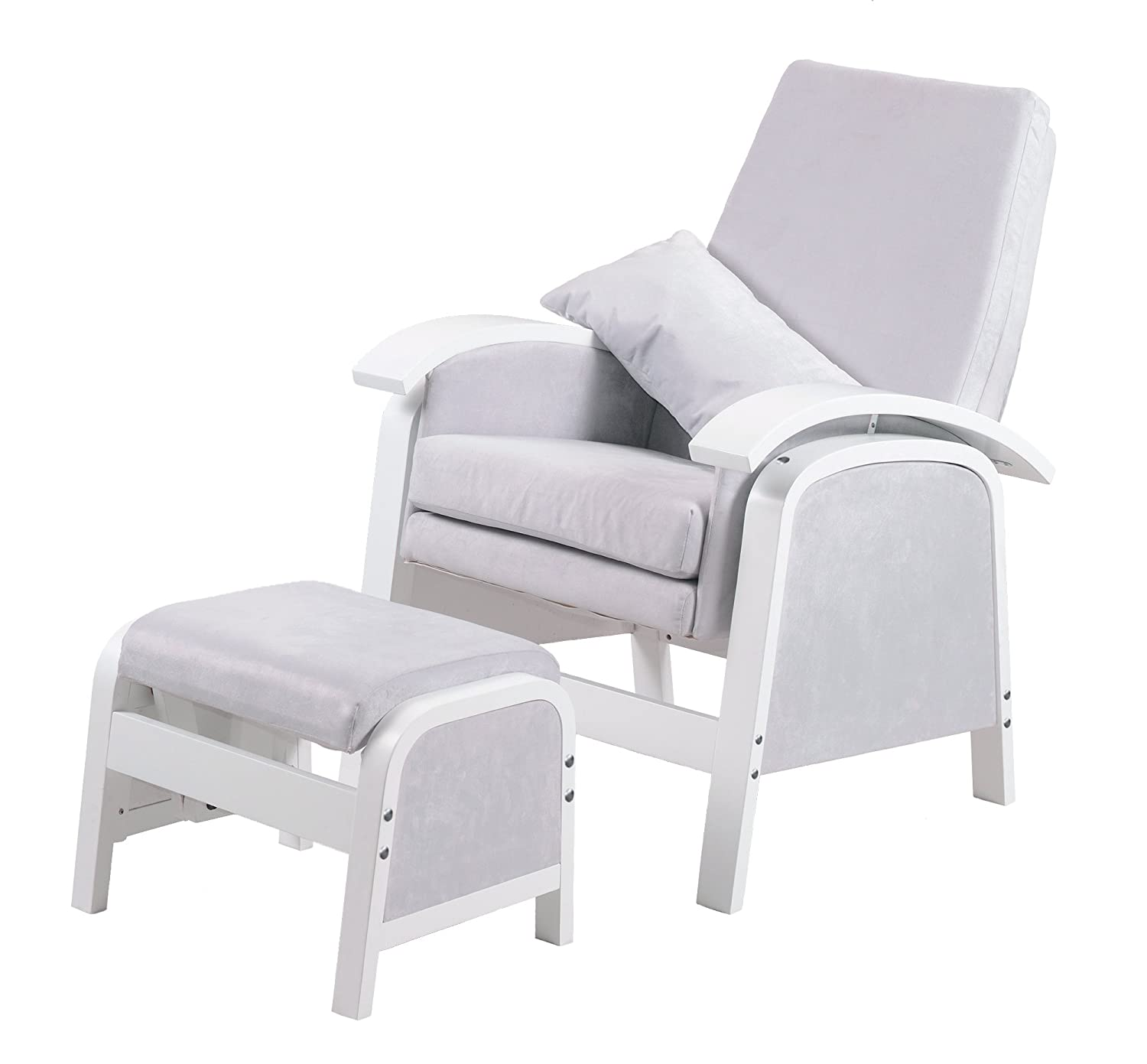 Kub Rosewell Glider and Footstool White Amazon Baby