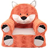 Sweet Seats Adorable Orange Fox Childrenu0027s Chair Ideal For Children Ages 2  And Up, Machine