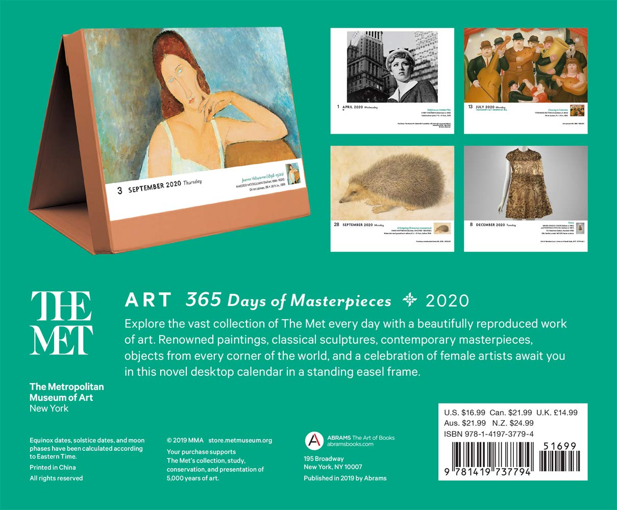 365 Days of Masterpieces 2017 Calendar Art