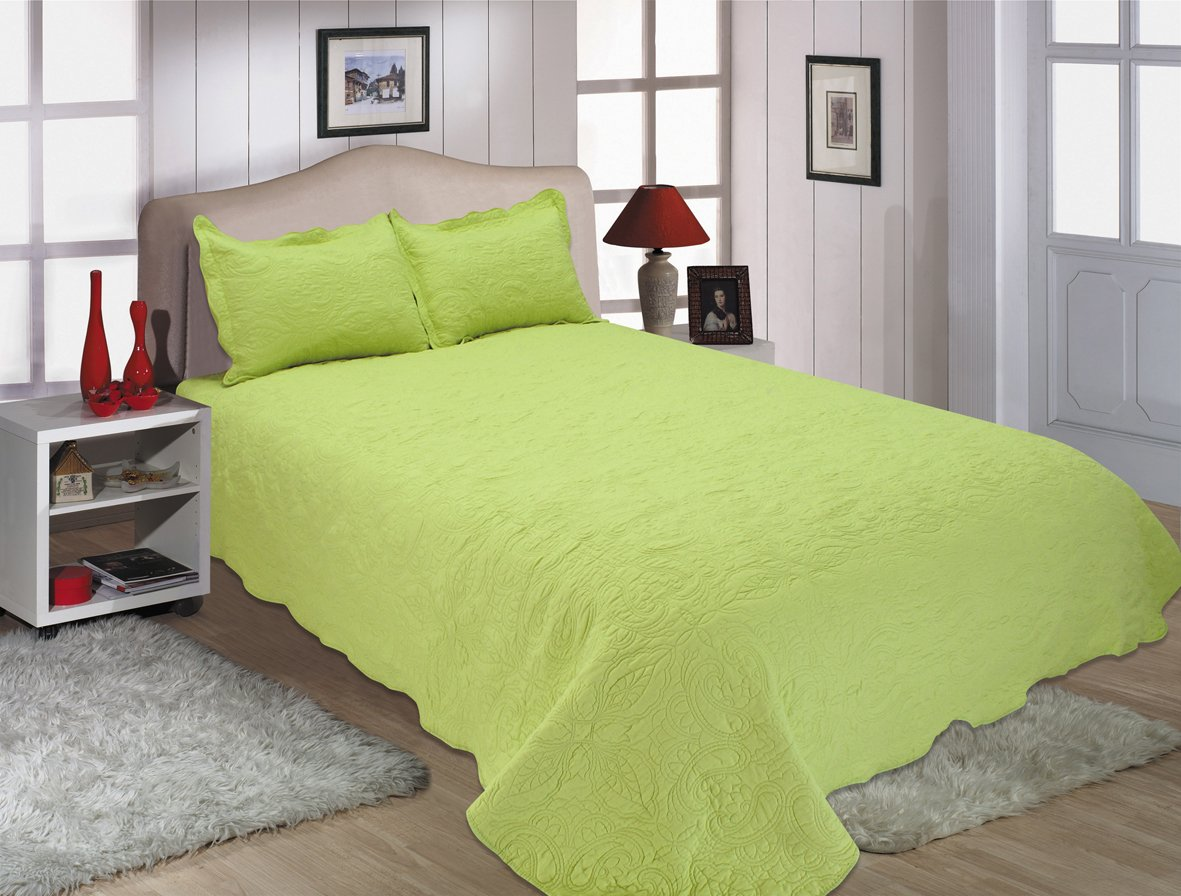 2-Piece Reversible Embroidered Bedspread