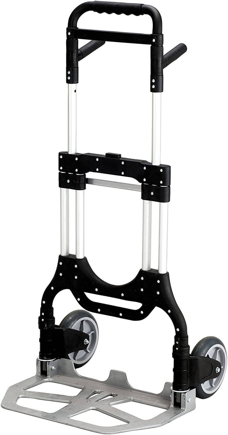 Safco Products Stow Away Heavy-Duty Hand Truck , Collapsible, 500 lbs. Capacity, Telescoping Handle