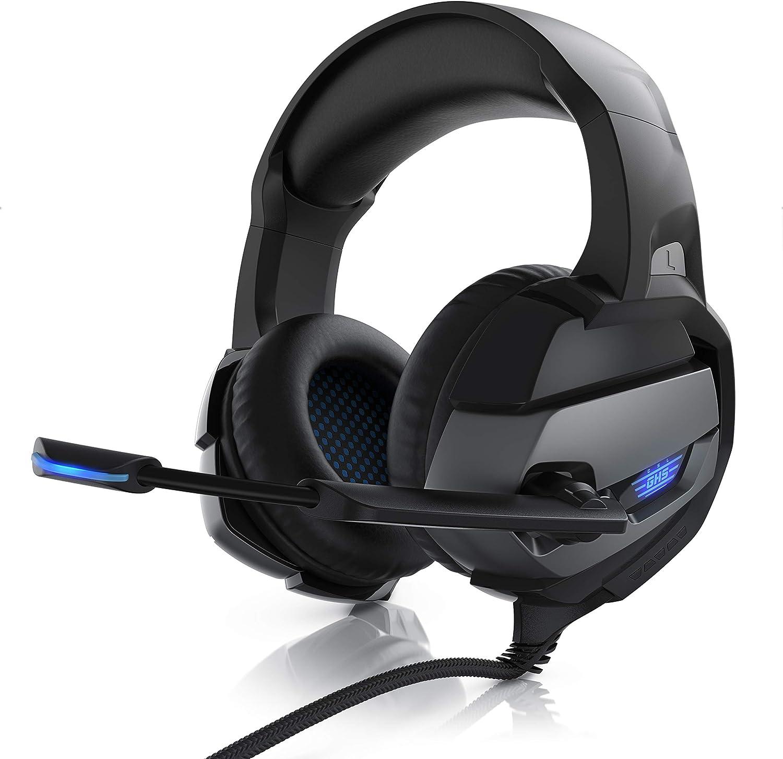 PC mit RGB-LED-Beleuchtung REDSTORM Kabelgebundenes Gaming-Headset f/ür PS4 Rauschunterdr/ückung Mikrofon