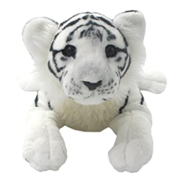 TAGLN Peluches Juguetes Tiger Animales Leopardo Guepardo León Pantera Almohadas (Tigre Blanco, 40 CM)