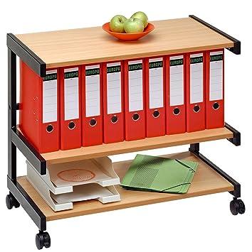 Bürowagen 18B3 Buche/Schwarz: Amazon.de: Küche & Haushalt