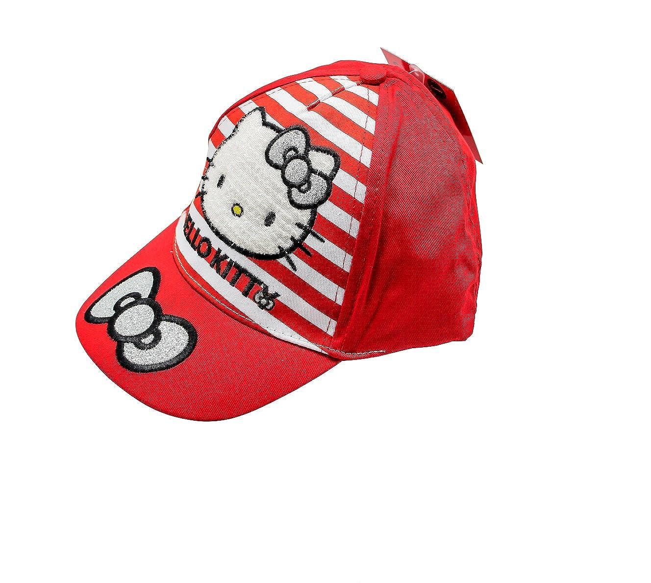 M/ädchen Baseball Cap Hello Kitty Sun City Kappe Schirmm/ütze f/ür Kinder 100/% Baumwolle mit Klettverschluss verstellbar