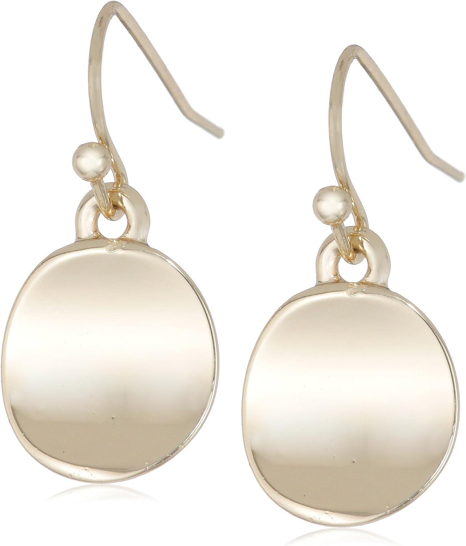 Kenneth Cole New York Shiny Earrings Small Circle Drop Earrings