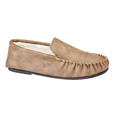 Mokkers - Zapatillas de estar por casa para hombre, color marrón, talla 41.5