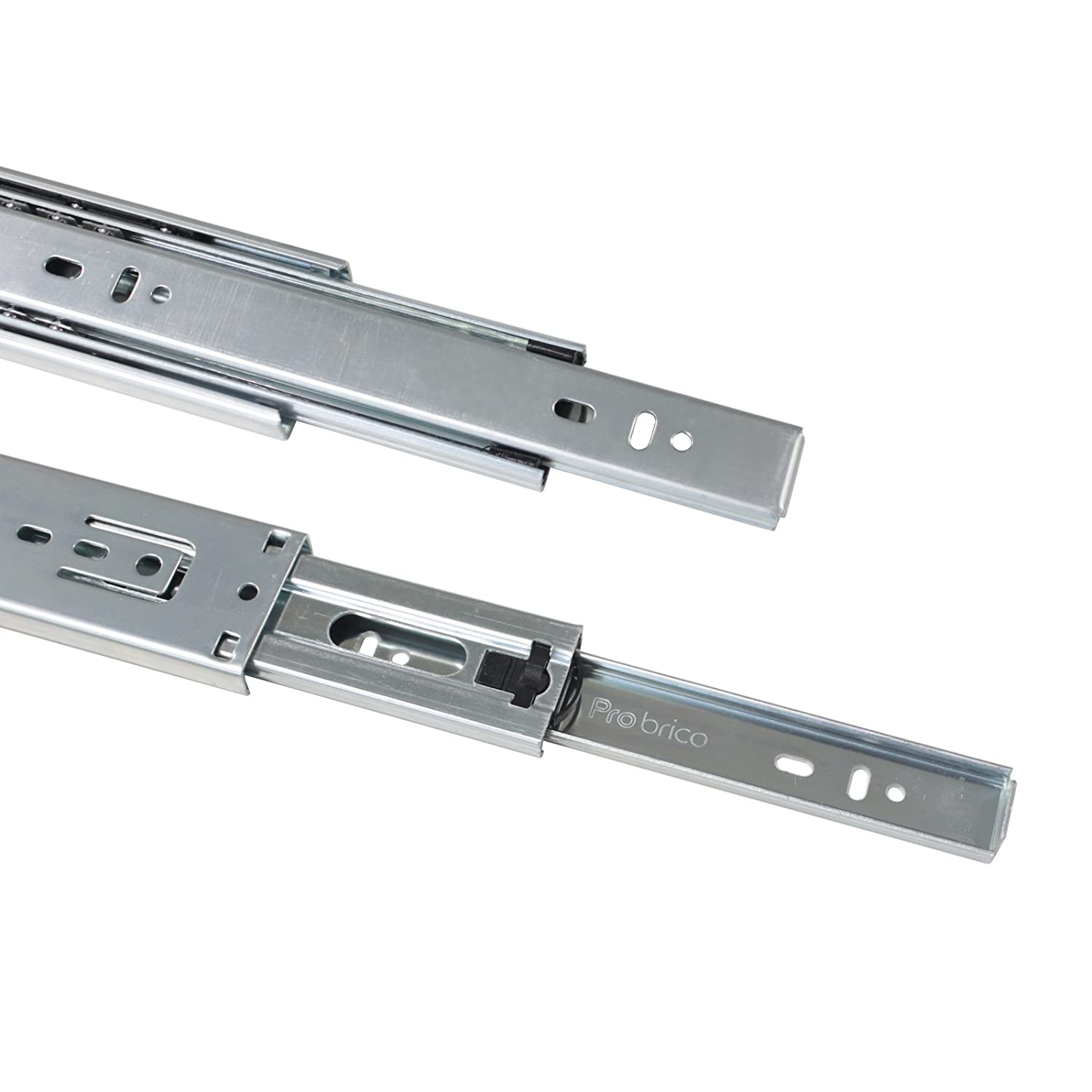 3Pair Gobrico 20-Inch Soft Close Full Extension Ball Bearing Rear Mount Drawer Slides with Brackets