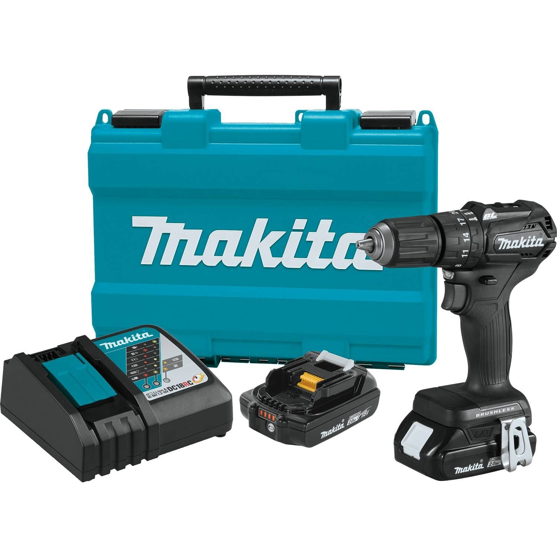 Makita XPH11RB 18V LXT Lithium-Ion Sub-Compact Brushless Cordless 1/2'' Hammer Driver-Drill Kit (2.0Ah)