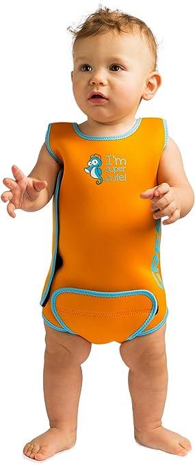 3d3985d084c55 Cressi - Baby Warmer Combinaison de Bain et Natation pour Bébé en Neoprene  - Orange -
