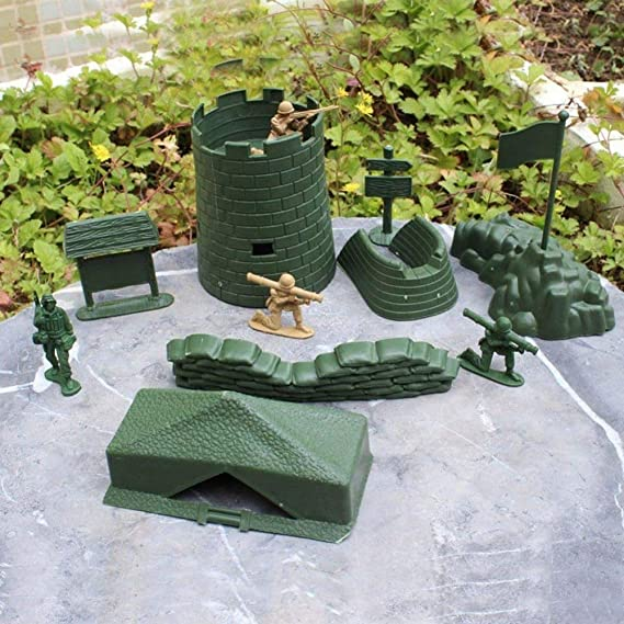 Amazon.com: ZAMTAC 7 pcs for Soldier Army Men Military Tent Sandbag U-Shaped Fort Road Sign Banner Playset War Toy Accessories