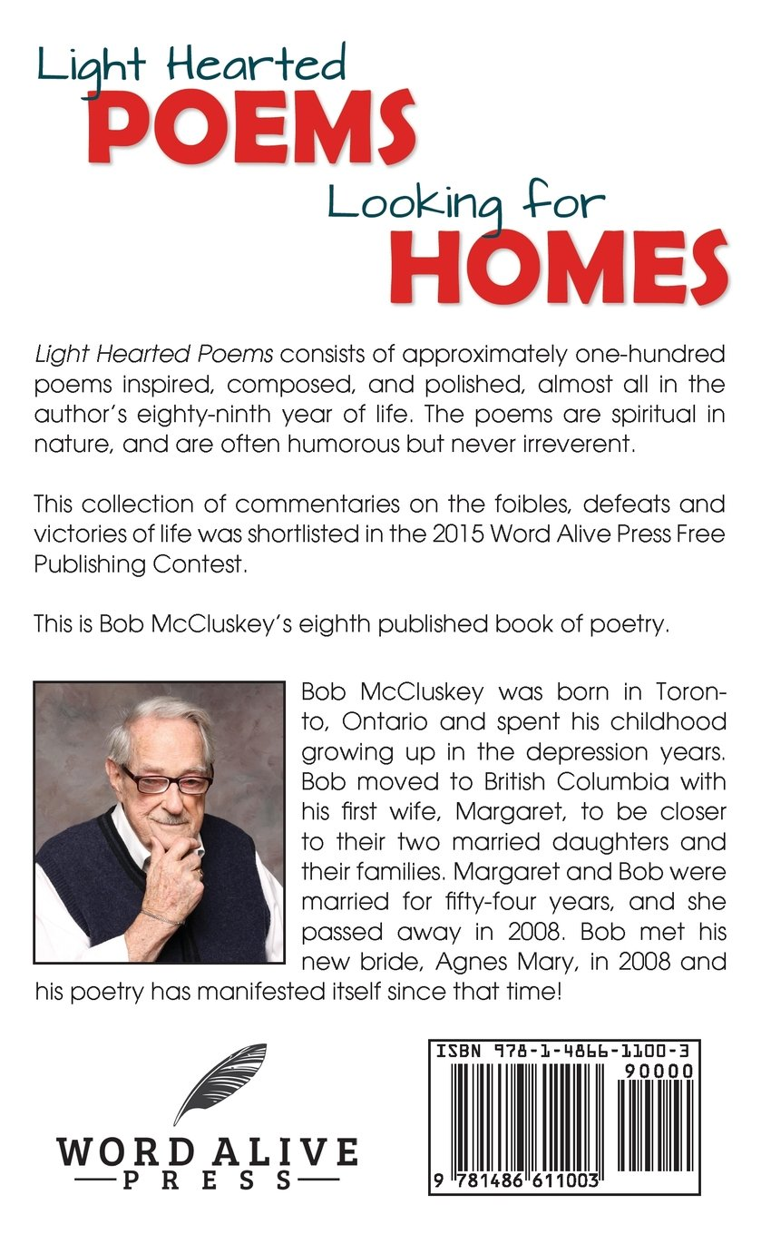 light hearted poems looking for homes bob mccluskey 9781486611003
