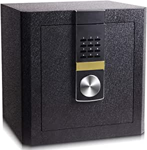 HYYQG Security Safes, High Security Steel Digital Safe Electronic Steel Keypad to Protect Money Jewelry Passports for Home Business Or Travel Black, Black