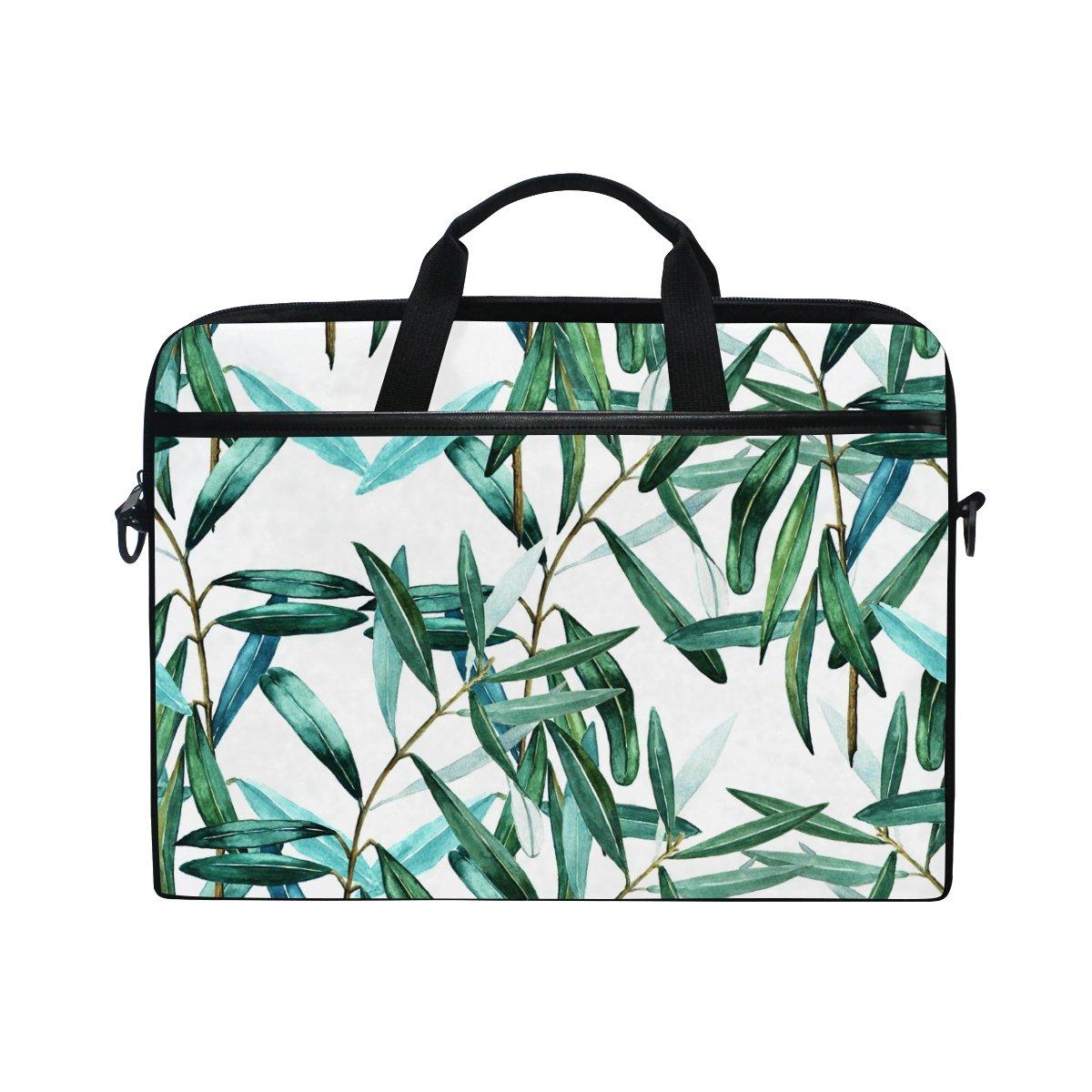 JSTEL Leaves Watercolor - Bolso bandolera para ordenador portátil portátil portátil de 14 a 15,6 pulgadas con correa ajustable para el hombro 20475b