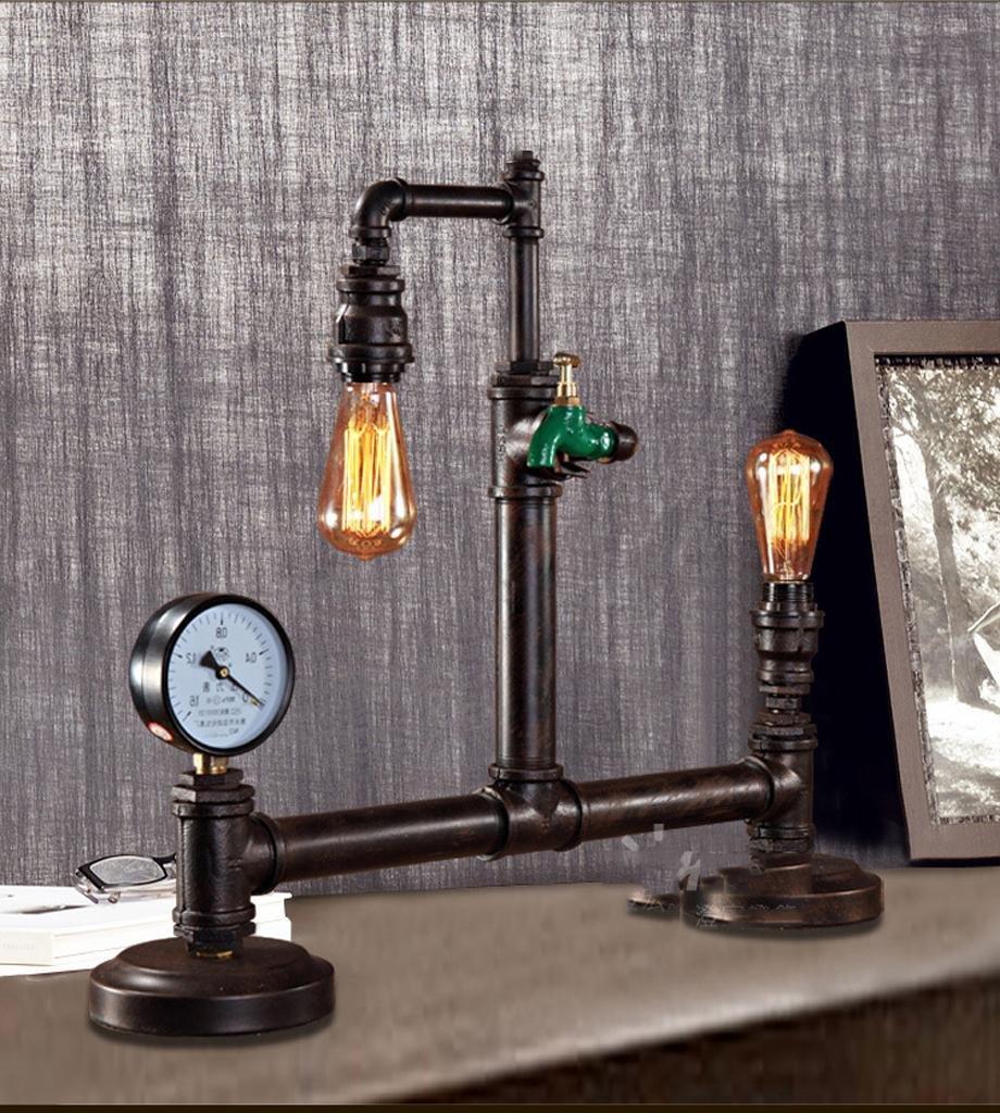 Study Bar Coffee Shop Dekoration personalisierte Schreibtisch Lampe Retro-Industrie Edison Wasser Röhre Lampe