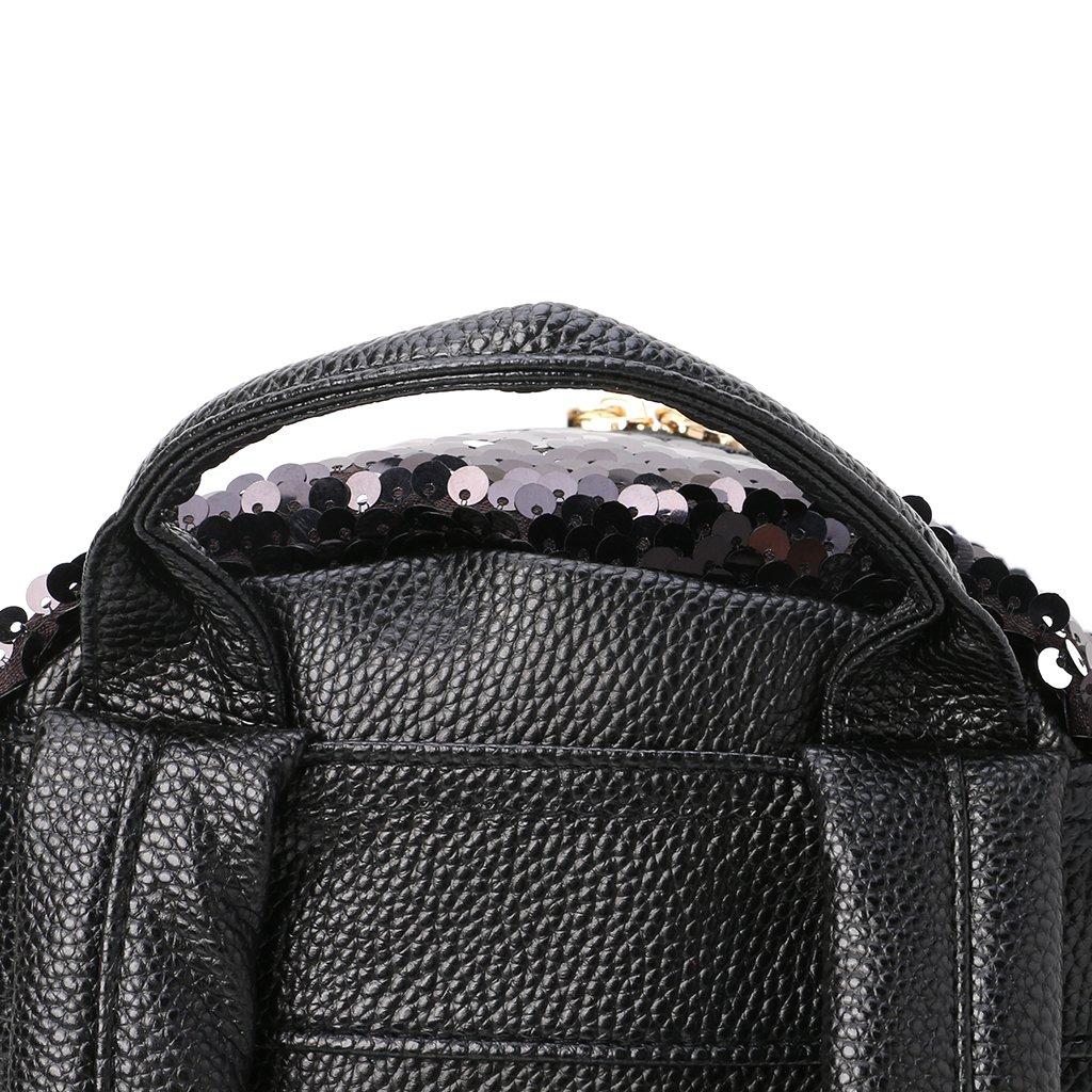 Kimruida - Mochila con Lentejuelas para Mujer (tamaño pequeño), diseño de Bolso de Mano, Mujer, Plata, Talla única: Amazon.es: Deportes y aire libre