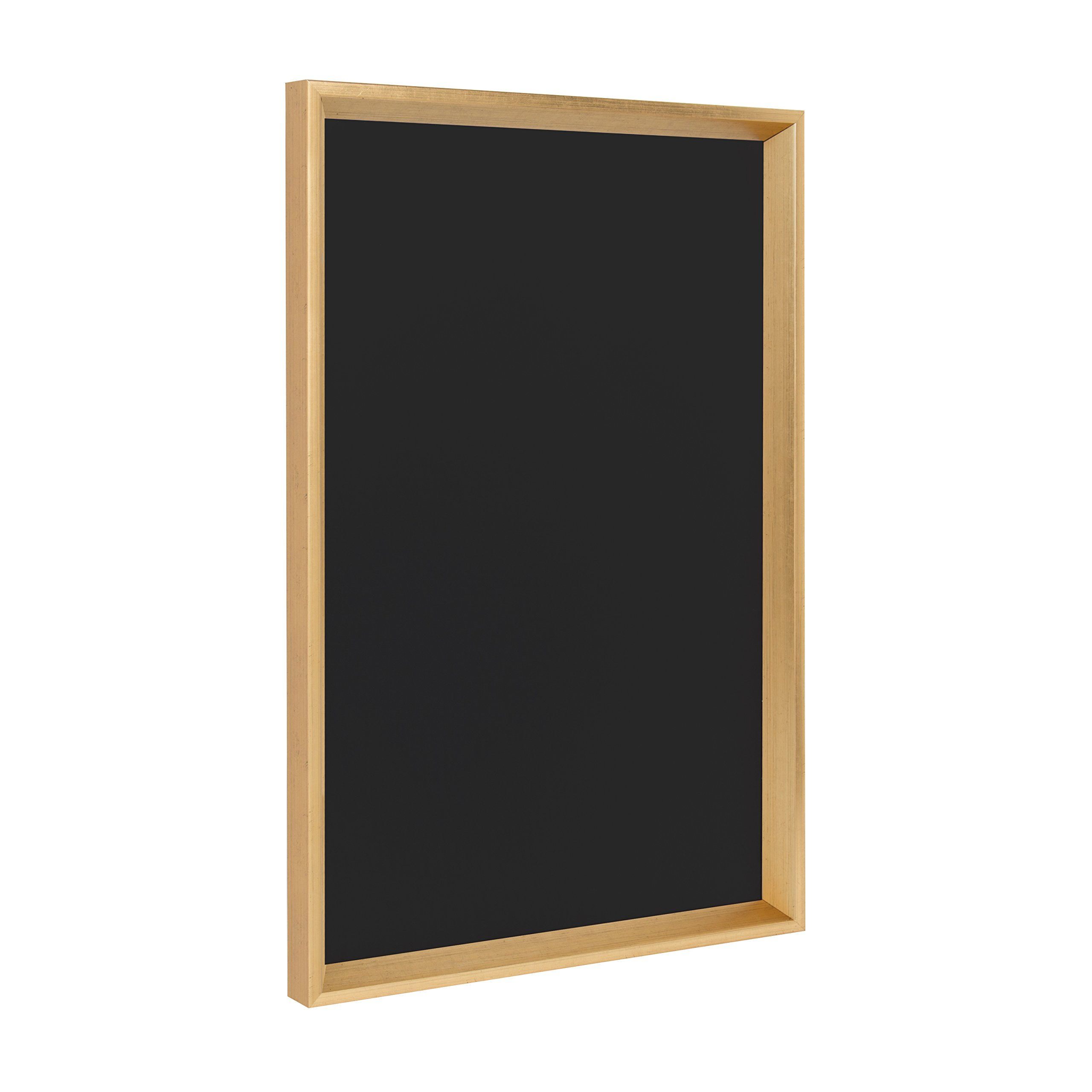 Kate and Laurel Calter Framed Magnetic Chalkboard, 16.5x25.5, Gold