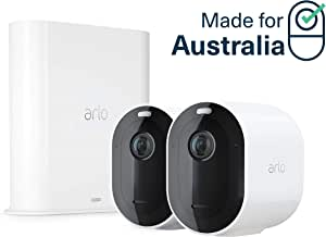 Arlo Pro 3-2 Camera System| 2K Video with HDR Security Camera, Wire-Free, Colour Night Vision, 160° View (VMS4240P-100AUS)