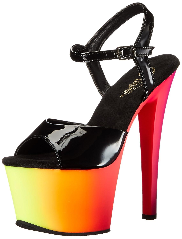 - Mehrfarbig (Mehrfarbig (Blk Pat Neon Multi)) Pleaser Rainbow-309uv, Sandales Bout Ouvert Femme