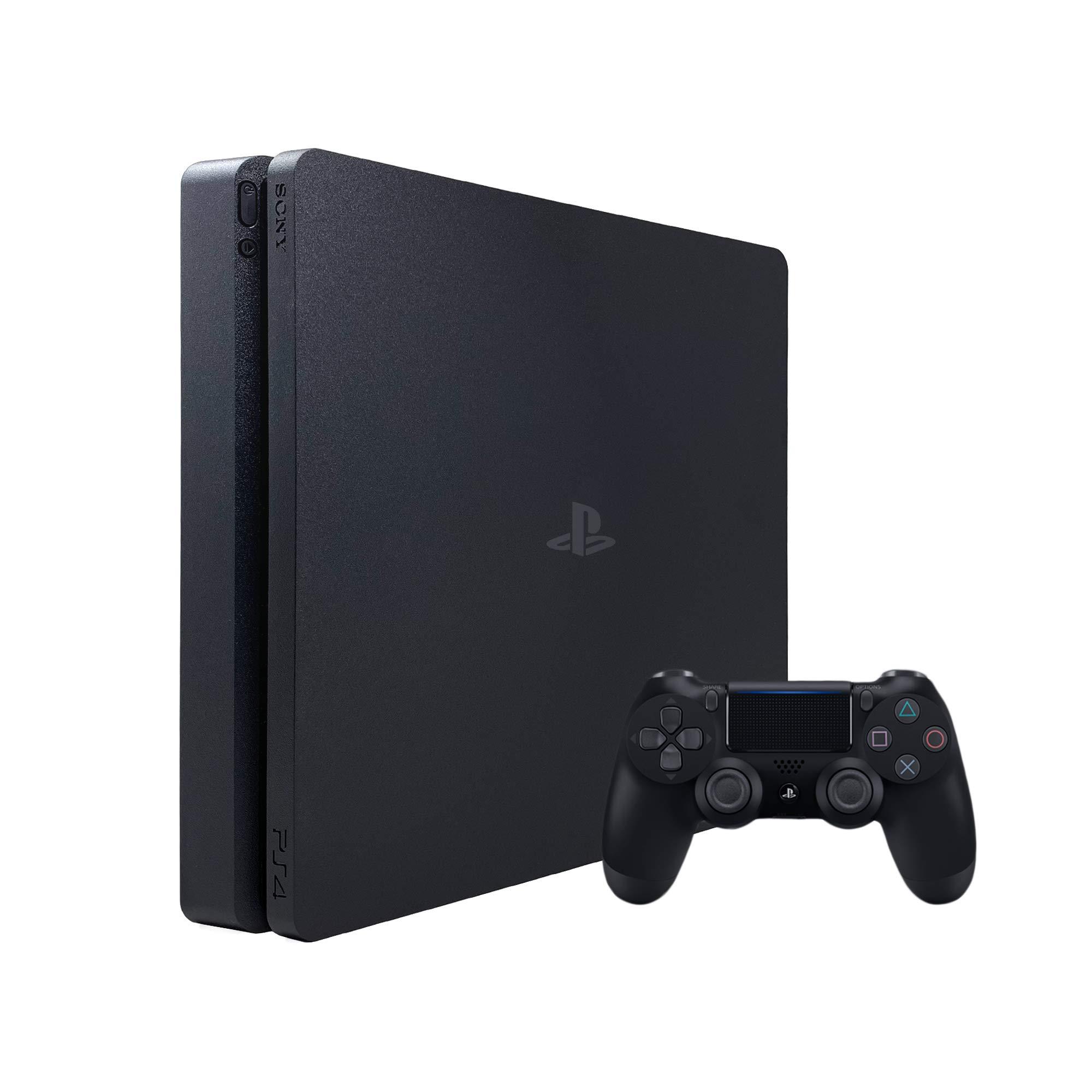 Sony PlayStation 4 Slim Gaming Console con controlador inalámbrico DualShock 4, unidad de estado sólido de 1TB, negro