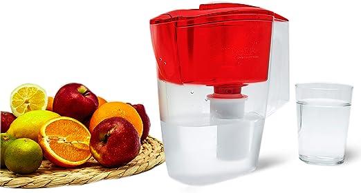 Geyser Jarra con Filtro purificador de Agua Alpha (Rojo): Amazon ...