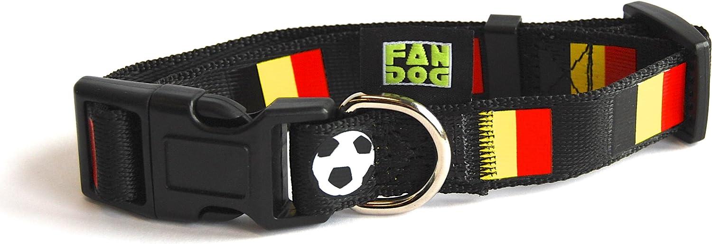 FanDog - Collar para Perro con Pelotas de fútbol y Bandera Nacional Belga (Talla M): Amazon.es: Productos para mascotas