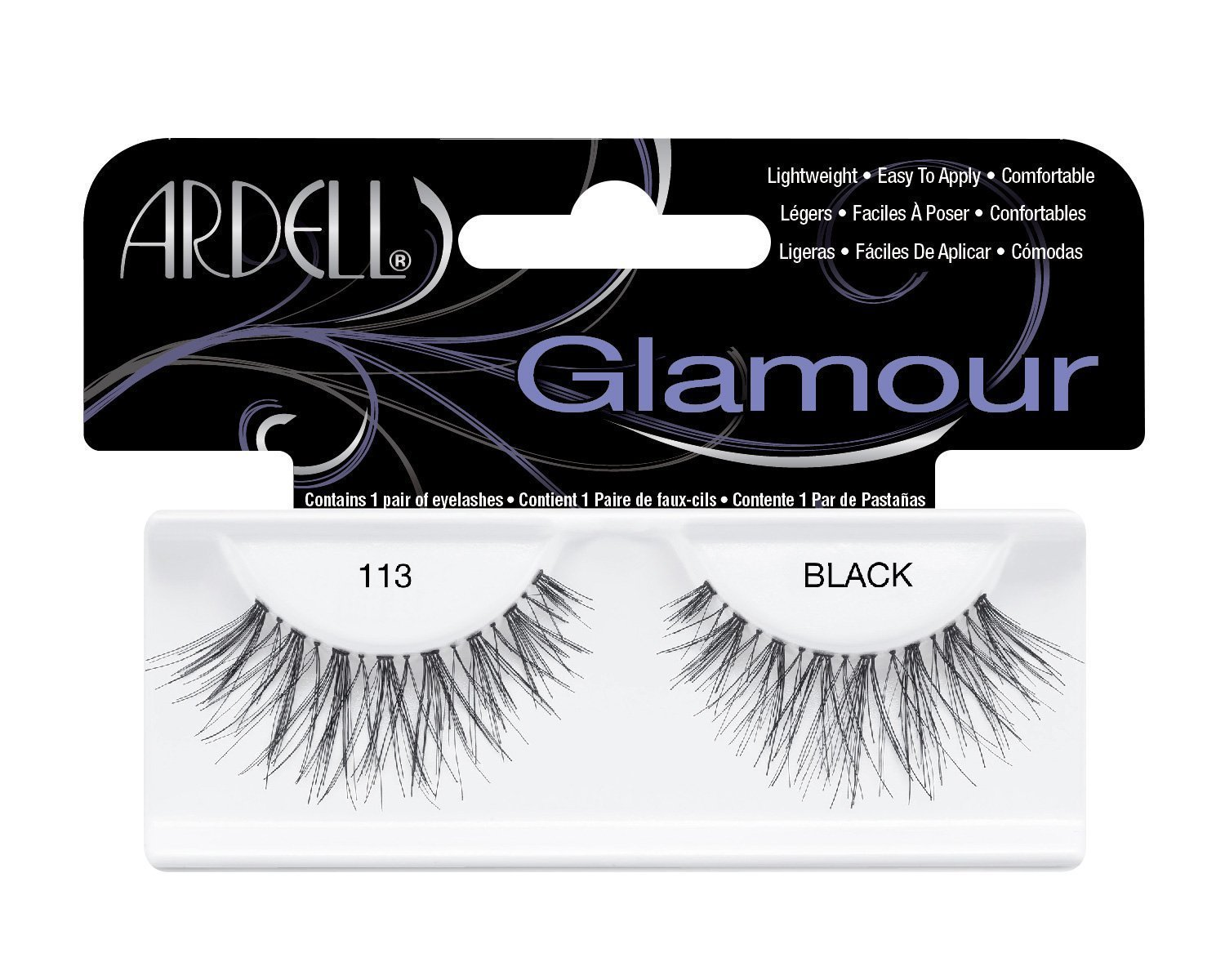 40885da0c62 Amazon.com : Ardell Fashion Lashes Pair - 113 Black (Pack of 6 Pairs) :  Beauty