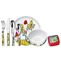WMF MAJA THE BEE Toddler cutlery set Multicolor Acero inoxidable - Cubiertos para niños (Toddler cutlery set, Multicolor, Acero inoxidable, 3 año(s), 6 pieza(s))