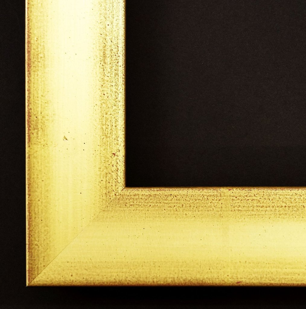 Spiegel Wandspiegel Badspiegel Flurspiegel Garderobenspiegel - Über 200 Größen - Lindau Echt - gold matt, rot unterlegt, Rücken farbig 4,2 - Außenmaß des Spiegels 100 x 140 - Über 100 Größen zur Auswahl - Wunschmaße auf Anfrage - Modern, Antik