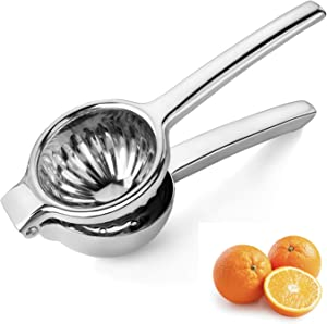 Fresh Menu Kitchen Premium Quality Citrus Squeezer - Heavy Duty Lime and Lemon Press That's Great for Juicing Oranges - Includes 10 Free Recipes