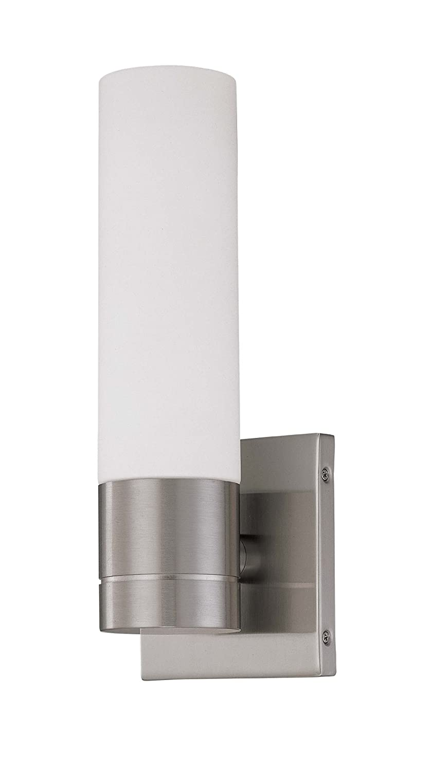Nuvo Lighting 60/3955 Link 2 Light Double Tube Wall Sconce With White  Glass, Brushed Nickel   Bathroom Light Fixtures   Amazon.com