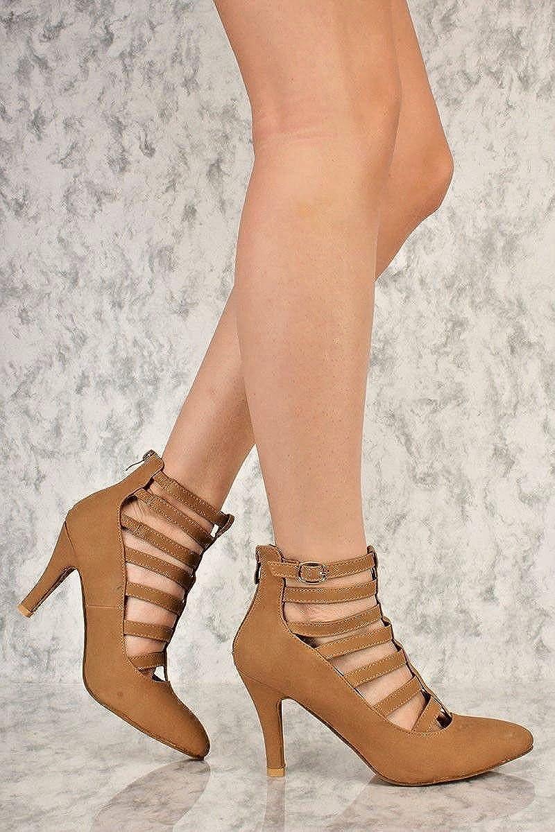 Karrie Nude Double Ankle Strap Heels - High Heels