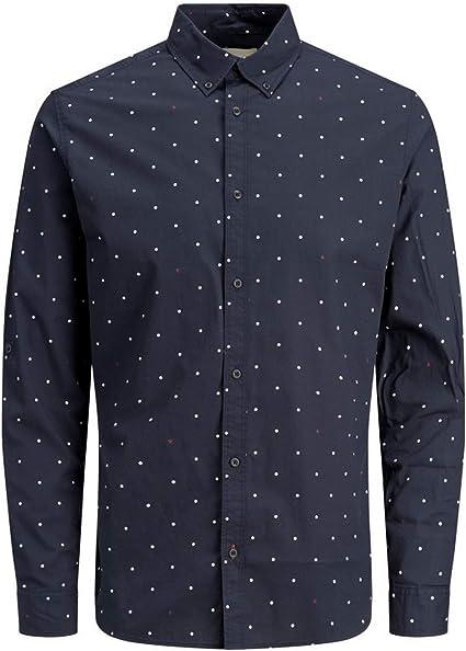 Jack&Jones Camisa Hombre XXL Azul Marino 12162454 JCOAOP Shirt LS Plan Sky Captain Slim: Amazon.es: Ropa y accesorios