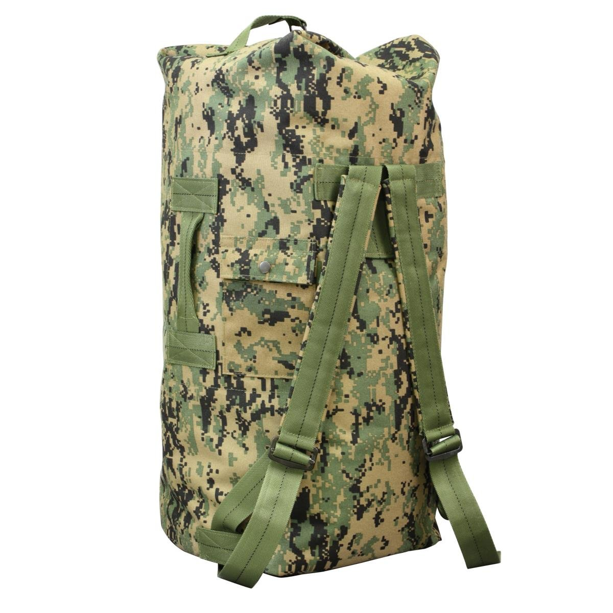 Rothco Gi Type Double Strap Duffle Bag B0025M3O54  WOODLAND DIGI