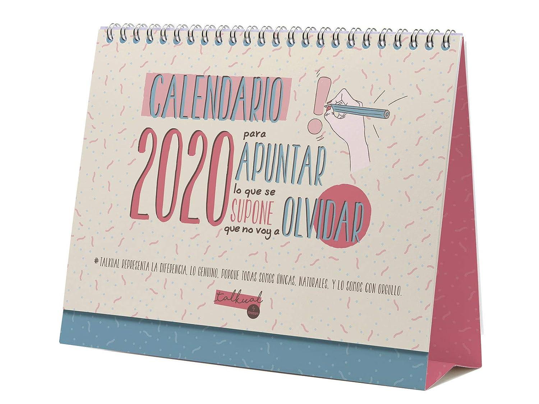 Calendario de sobremesa Talkual 2020 catal/án Finocam