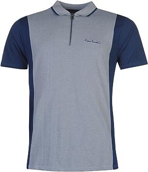 Pierre Cardin cremallera cuello Polo camiseta para hombre parte ...