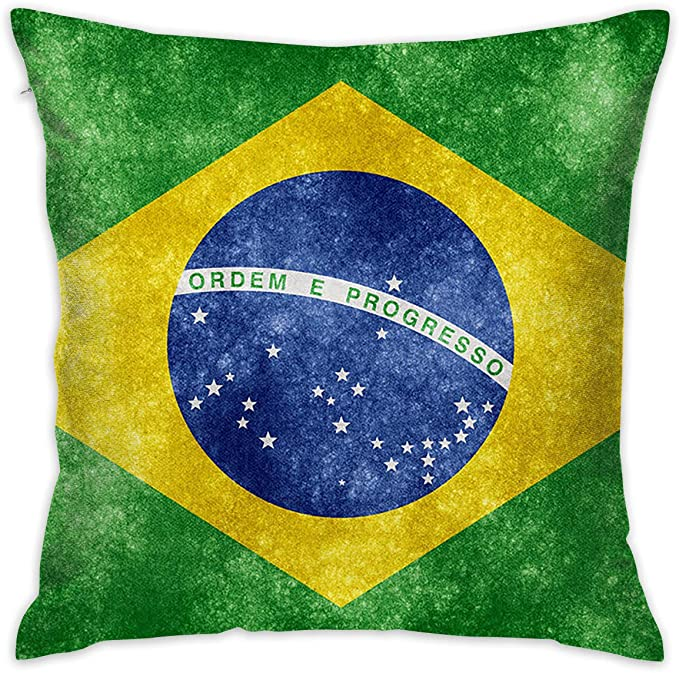 FRS Ltd Brazil Flag Throw Pillow Cases